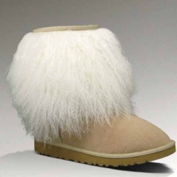 ugg shoes mongolian short sheepskin cuff boot poshmark rh poshmark com